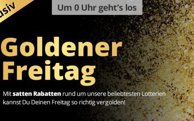 Goldener Freitag bei Lottohelden – 50% Rabatte auf Angebote