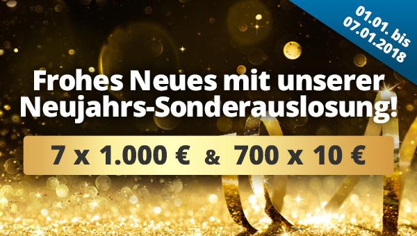 Lotto Neujahres Sonderauslosung