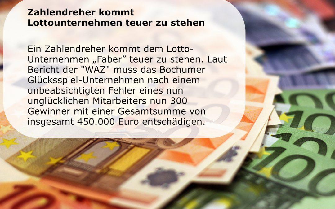 Faber – Zahlendreher kommt Lottounternehmen teuer zu stehen