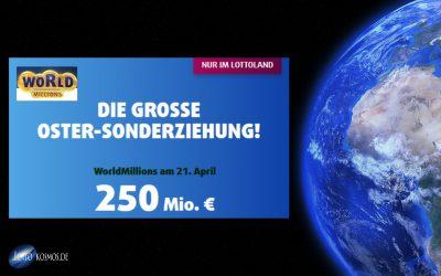 WorldMillions Sonderziehung bei Lottoland